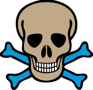 clipart image of a skull and crossbones