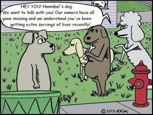 Cartoon of dogs missing owners