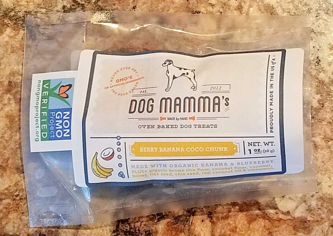 image of berry banana dog treats