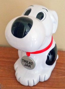 dog shaped treat jar