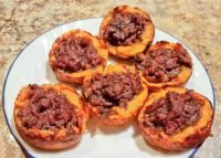 plate of beef and sweet potato muffins